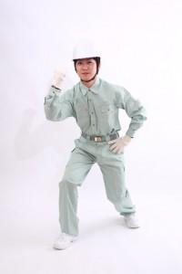 作業服の男性