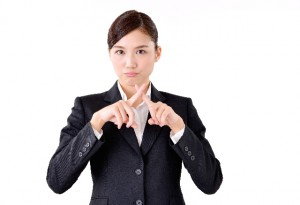 女性会社員のバツ
